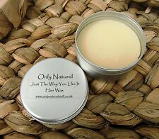 All Natural Hair Wax Chemical Free, Conditioning , Med Hold, Adds Definition,