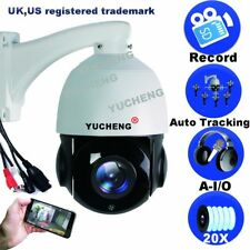 YUCHENG 1080P 2.0MP POE Auto Tracking 20X Optical Zoom  PTZ IP Camera SONY CMOS