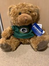 NFL Green Bay Packers Seated T-Shirt Tan Plush Teddy Bear, New With Tag