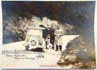 NAPOLI ROCCARASO ROMA 1928 FOTOGRAFIA AUTOMOBILISMO