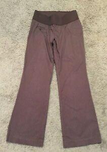 Liz Lange Maternity Brown Pin Stripe Pants - Size 4