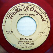 RUTH WALLIS 45 Goldmine / Long-Playing Daddy RED VINYL Pop 1950's w1618