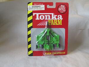 Tonka Farm Green Rotary Cutter Mower Farm Tractor Implement 1999 Maisto Hasbro