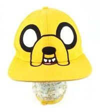 VTG Cartoon Network Adventure Time with Finn & Jake Snapback Yellow Cap Hat HT4