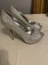 Worthington Silver Glitter Pumps Size 8.5