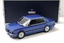1:18 norev bmw m535i e28 sedan Blue 1987 New en Premium-modelcars