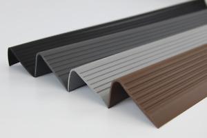 """118 cm 46,45"""" Stair nosing non slip RGPD rubber angle 70x40mm step edge Bullnose"""