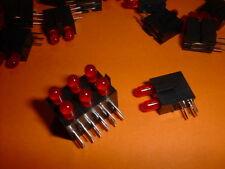 25x LED indicator 3mm 90° rot/rot Kingbright L-964ZM/2LID-RV