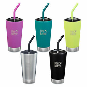 Klean Kanteen - 473ml Vacuum Insulated Tumbler with Straw & Lid