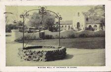 Postcard Wishing Well Entrance Casino Hotel Agua Caliente Tijuana Mexico