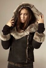 *STUNNING* AllSaints Ladies TOSCANA SHEEPSKIN FASTLANE Jacket UK14 US10 EU42