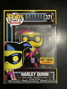 Funko Pop! Heroes Batman Harley Quinn Black Light Hot Topic Exclusive
