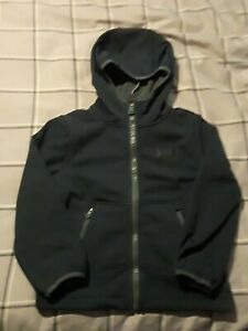 NWT UNDER ARMOUR STORM BOYS COLDGEAR SOFTSHELL ZIP UP HOODIE HOODY NAVY