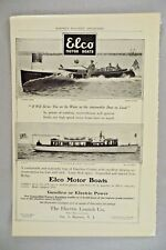 Elco Motor Boat PRINT AD - 1907 ~~ The Electric Launch