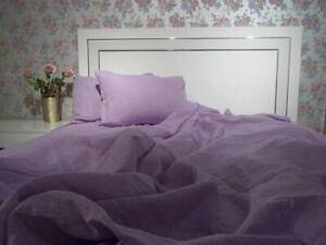 Linen FLAT SHEET Natural 100% FlaxLinen Bedding Washed Soft