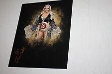 WWE WOMENS DIVAS CHAMPION CHARLOTTE FLAIR SIGNED AUTOGRAPHED 8X10 SPOTLIGHT