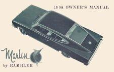 1965 AMC Marlin Owners Manual User Guide