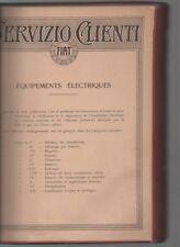 FIAT equipements électriques 1929