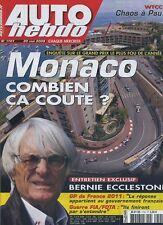AUTO HEBDO n°1701 du 20 Mai 2009 GP MONACO WTCC PAU LOTUS EVORA