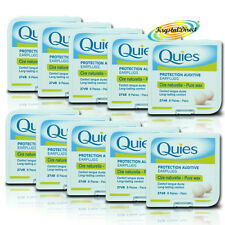 10 Quies Pure Natural Wax Ear Plugs Earplugs Protection 8 pairs