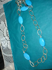 "30"" Blue turquoise necklace"