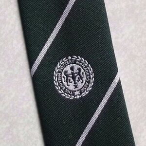 Vintage Tie MENS Necktie Crested Club Association BRITISH POTTERY MANAGER