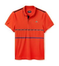Lacoste Sport Polo Shirt BNWT size S (3) Red Ultra Dry Fit Genuine Mens DH8146
