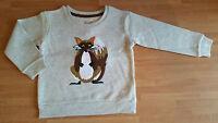 Ex Monsoon Baby Boys Cotton Rich Beige Fox Animal Jumper Sweater Top New