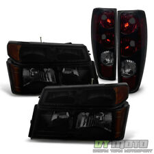 Blk Smoke 2004-2012 Chevy Colorado GMC Canyon Headlights+Tail Lights Lamps 04-12