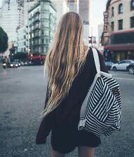 brandy melville john Gault Blue/cream Striped backpack NWT OS