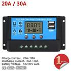 LCD 20A/30A 12V/24V PWM Solar Panel Battery Regulator Charge Controller A#