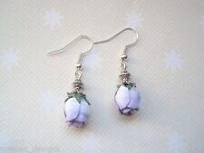 Silver Plated Drop/Dangle Flowers & Plants Costume Earrings