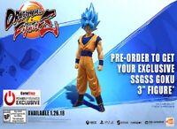 """Dragonball FighterZ Preorder Bonus Super Saiyan God Super Saiyan Goku 3"""" Figure"""