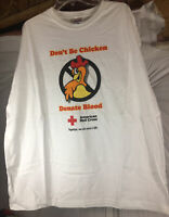 Don't Be Chicken Donate Blood Hanes Heavyweight Tag Size XXL American Red Cross
