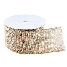 10 Yard Burlap Natural Color Fabric Ribbon Roll for Arts & Crafts Homemade DIY P