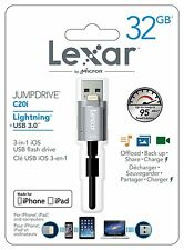 Pendrive para iPhone y iPad Lexar 32 GB Dual Lightning y USB JumpDrive C20i 32GB