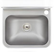 WB 38 | Edelstahl Waschbecken wandhängend CNS Handwaschbecken + Siphon Ausguss