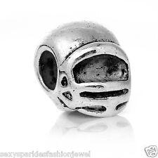 Sports Helmet Charm Bead for European Snake Chain Charm Bracelet-3698