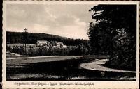 Ober Holzhau Erzgebirge DDR s/w AK 1954 Blick über Wiesen auf die Fischerbaude