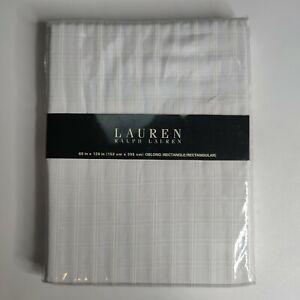 Lauren Ralph Lauren White Tablecloth Rectangle Oblong 60 x 120 in Plain Square