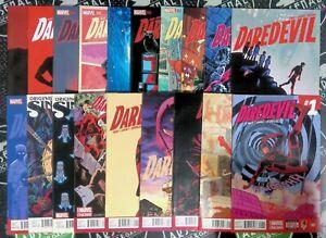 Daredevil #1-18 + 1.5 (2014) Marvel Comics Waid & Samnee Bullseye Elektra