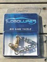 Lobo Lures 2 Pack 450lb Heavy Duty Aussie Corkscrew Big Game Fishing Swivels