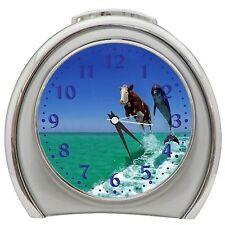 Cow And Dolphin Desktop Night Light Travel Alarm Clock