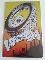 Plaque en tôle Bibendum Michelin vintage  garage plaque métal réédition 20x30 cm