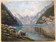 """Pintura al óleo originales por artista listados de """"escuela de Múnich"""" Josef Koch 1886 - 1966"""