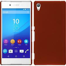 Hardcase for Sony Xperia Z3+ / Plus rubberized red Cover + protective foils