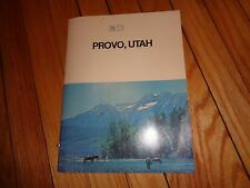Provo Utah Promotional Book with Map