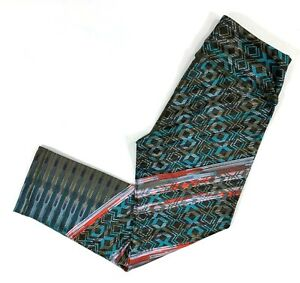 Prana Roxanne Capri Yoga Pants Green Tribe Recycled Polyester Womens Size XS NWT