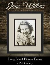 Jane Withers Child Star Signed Vintage 8x10 B&W Photograph Newly Custom Framed
