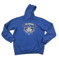 LRG Lifted Research Group Pullover Hoodie XL Extra Large Blue Hooded Sweatshirt